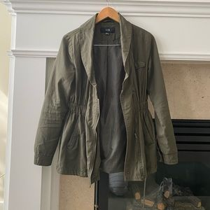 F21 Cinch Waist Trooper Jacket